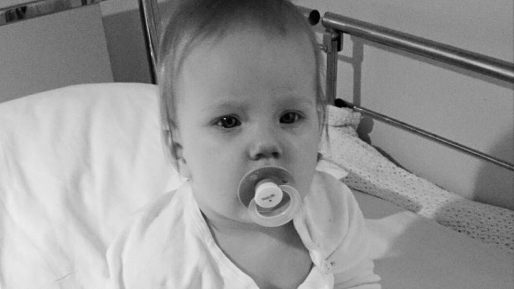 <b>TÅLER IKKE VAKSINEN:</b> Lille Wilma er svært utsatt for smitte og har tilbrakt mye tid på sykehus. Foto: privat