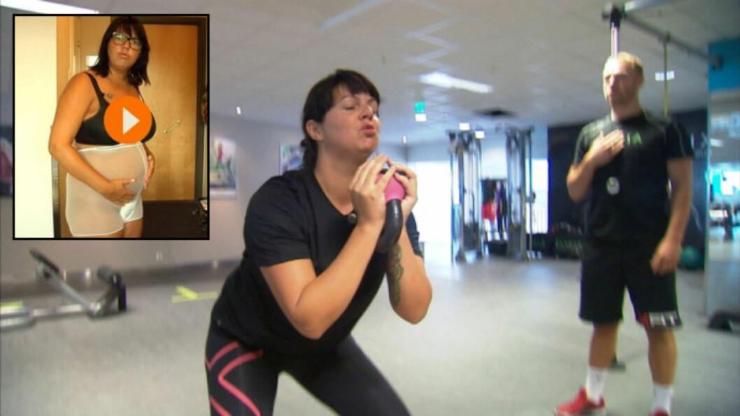 <strong><b>TO KNALLTØFFE MÅNEDER:</strong></b> Tobarnsmor Veronica gikk løs på et strengt trenings- og kostholdsregime for å bli en «Yummy Mummy». Foto: Privat. Innfelt: TV Vest
