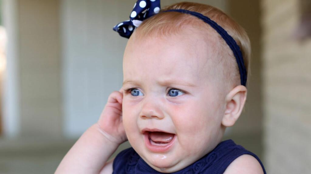<b>VONDT I ØRET:</b> Mellomørebetennelse er svært vanlig hos småbarn. Foto: Shutterstock.com ©