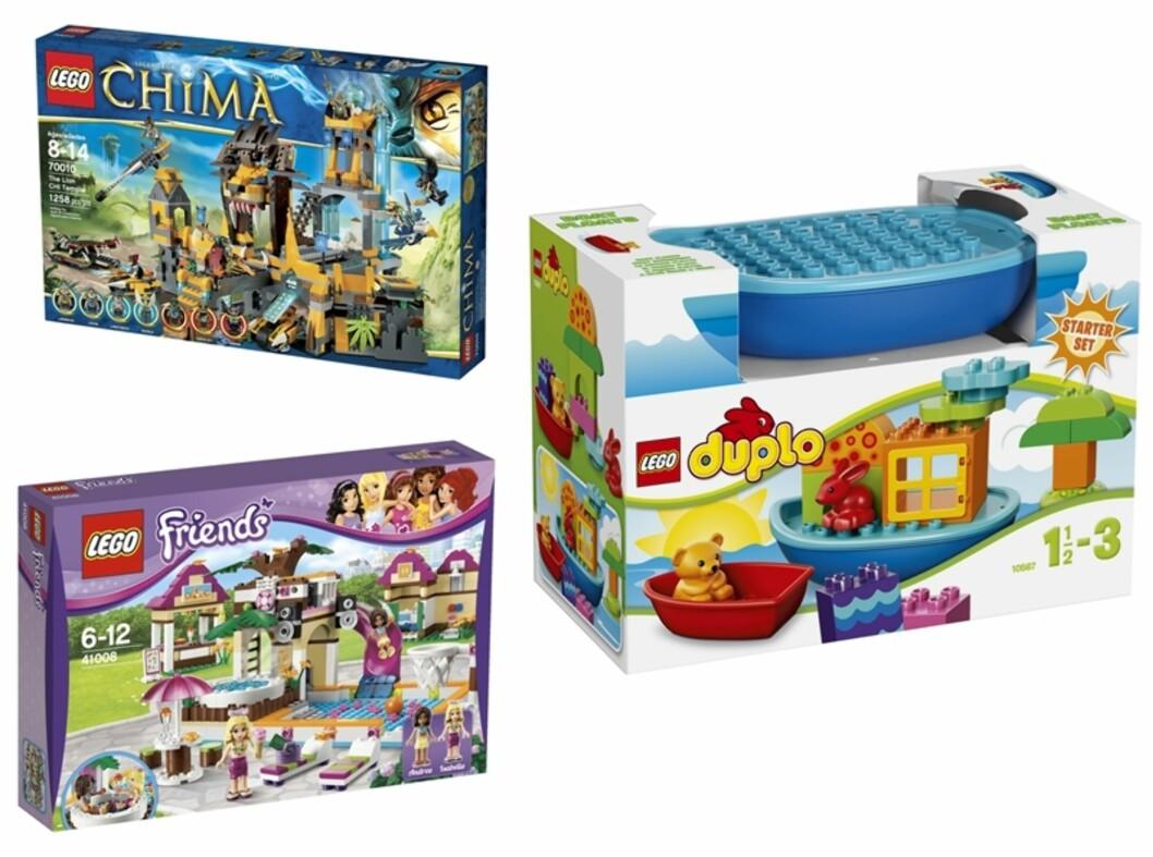 I ALLE VARIANTER: Fra Duplo til Friends. LEGO finnes i dag i utallige variasjoner. Foto: Produsenten