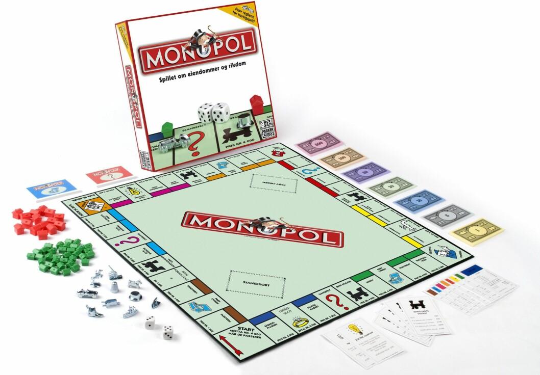 PÅ ANDREPLASS: Monopol kommer i flere forskjellige utgaver og er ifølge Wikipedia verdens mest solgte brettspill. Foto: Produsenten