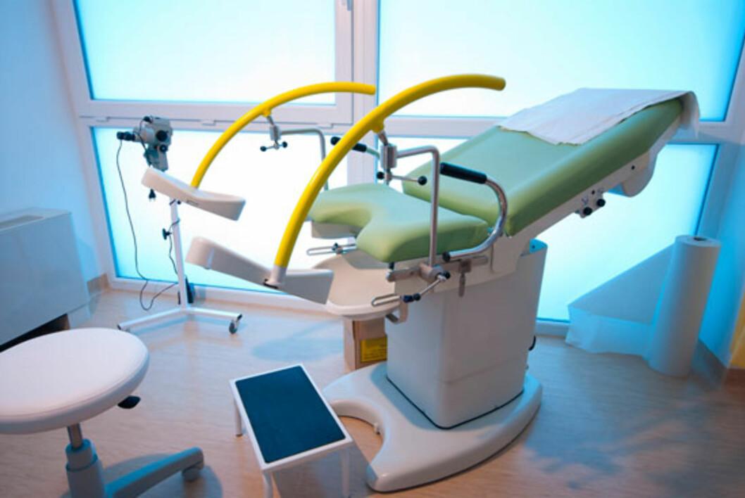 En gyneklogisk stol bruker til undersøkelsen. Foto: Shutterstock.