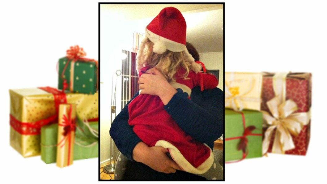 <b>GRUER SEG TIL JUL:</b> Alenemoren vet ikke hvordan hun skal få nok penger til å kjøpe gaver til sin fire år gamle datter. Foto: Privat (innfelt), Shutterstock
