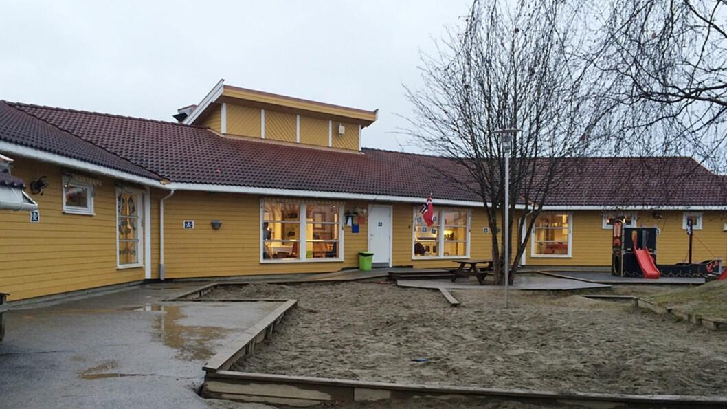 <strong><b>TOM LEKEPLASS:</strong></b> Kråkjordet Barnehage på Gjøvik har i perioder fjernet alle barnas leker. Foto: Trine Hagen Strandbakken