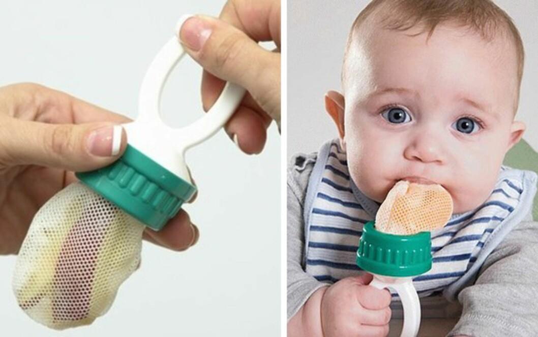 Baby Safe Feeder: Lar babyen spise frukt på en trygg måte. Foto: Produsenten