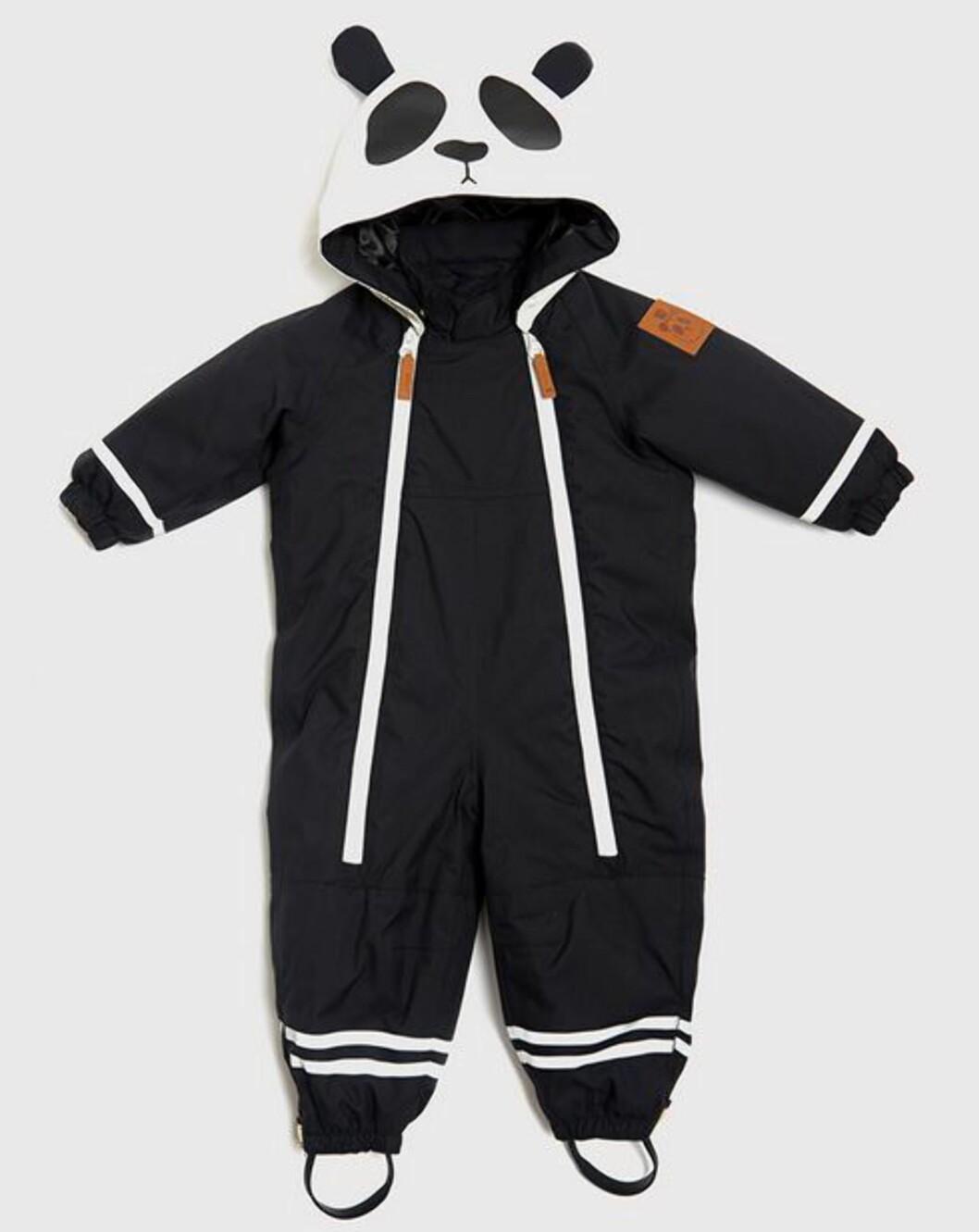 ESPIDITION ALASKA: Søt panda-vinterdress for de minste fra Mini Rodini. Pris kr 1599,- hos Miinto.no. Foto: Produsenten