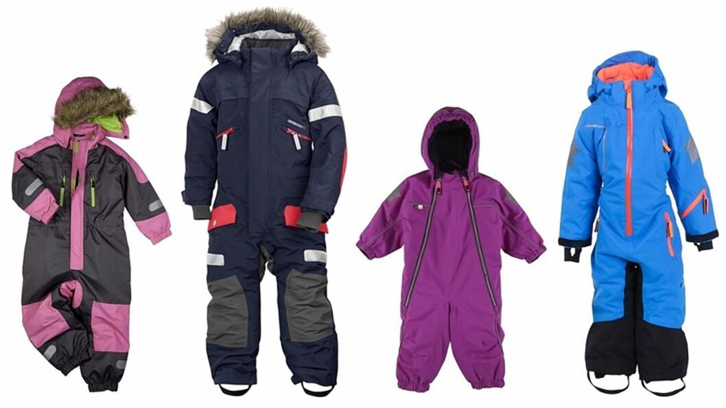 <b>SNART KOMMER VINTEREN:</b> Utvalget av vinterdresser her i Skandinavia er stort og de fleste holder et høyt nivå. Her er noen av de beste på markedet. Foto: Produsentene