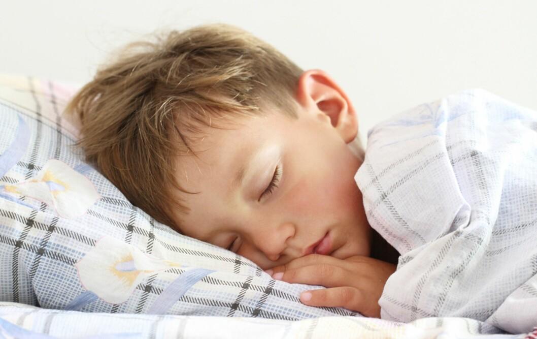 VIKTIG FOR BARNAS UTVIKLING: Å få tilstrekkelig mengde søvn er ifølge fagfolkene viktig både for barnas psykiske og fysiske helse. Foto: Colourbox