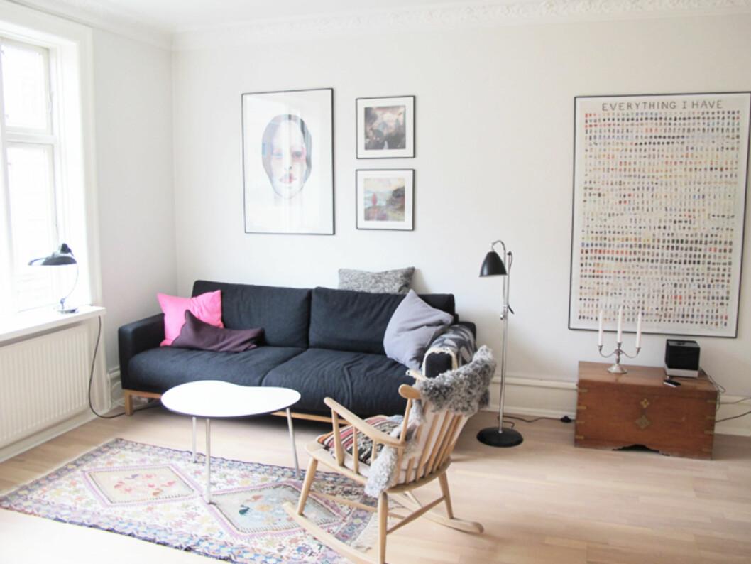 <strong>LEKKER LEILIGHET:</strong> Kirsti og familien leide denne private leiligheten på ferie i København. Foto: Privat