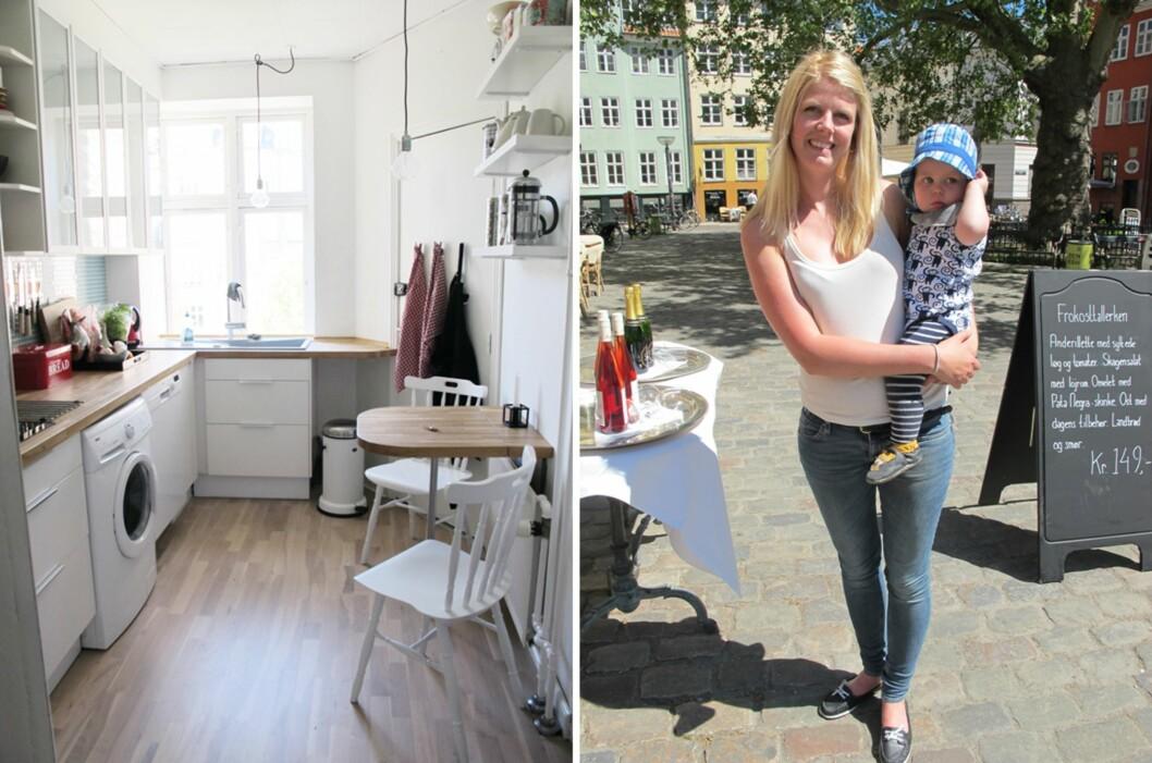 <strong>TO ROM OG KJØKKEN:</strong> Kirsti Wiik og sønnen Max trives bedre med å bo i private hjem enn på luksushotell når de er på ferie. Foto: Privat