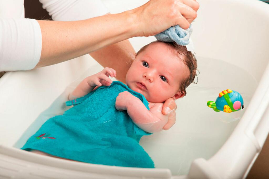 Slik bader du din baby.  Foto: Shutterstock.com ©