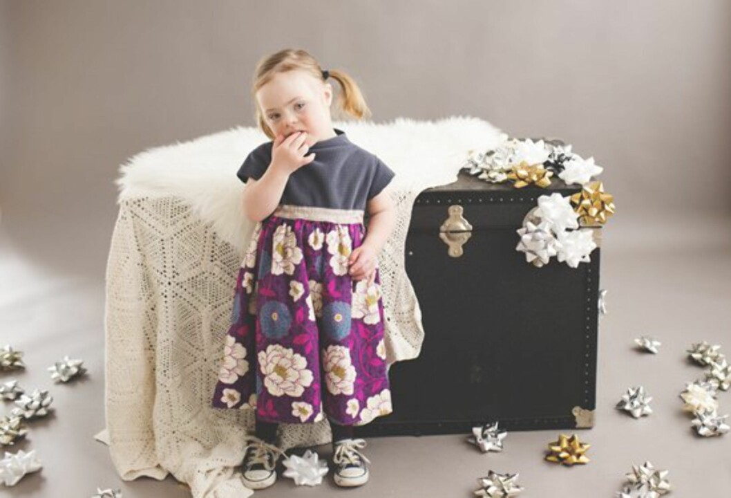 FÅR MANGE OPPDRAG: Grace har jobbet for flere kjente klesmerker. Foto: Privat