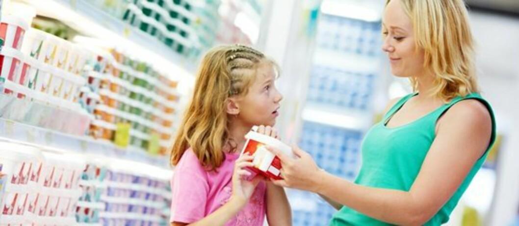 SHOPPESTOPP: En utfordring når man har barn. Foto: Colourbox
