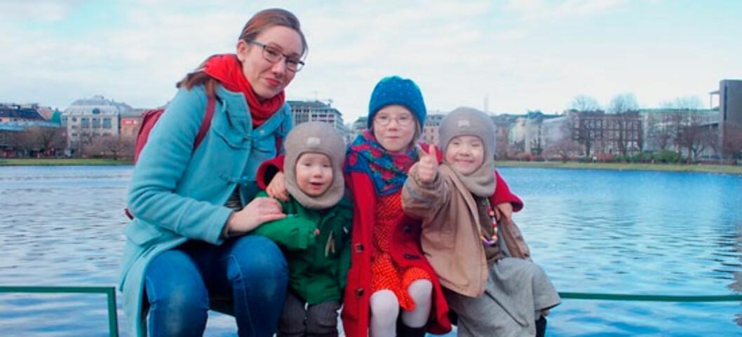 FAMILIEN HAR VALGT KJØPESTOPP: Smart både for miljøet og lommeboka synes May Lisa Handeland. Foto: Privat