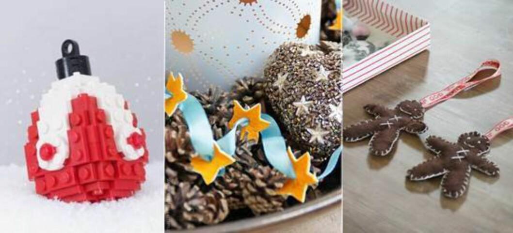 Julepynt kan lages av det meste. Foto: Chris McVeigh, Amalie Fagerli, Linda