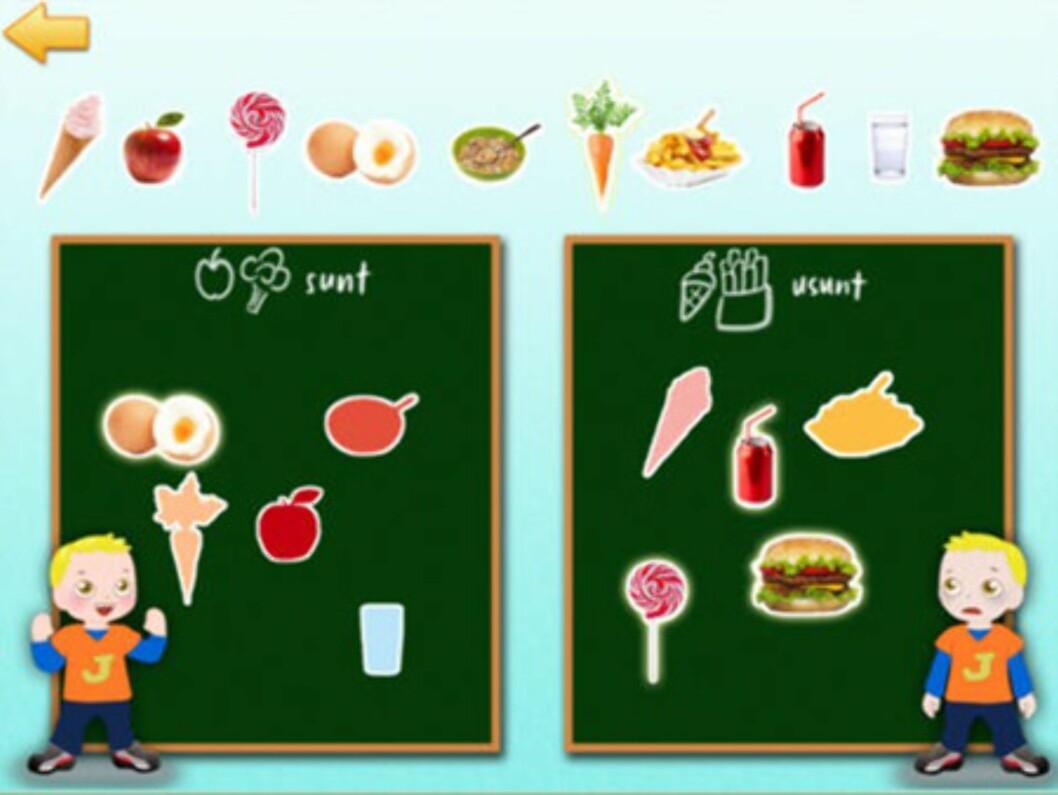 Hvilken mat er sunn og usunn? Foto: iTunes