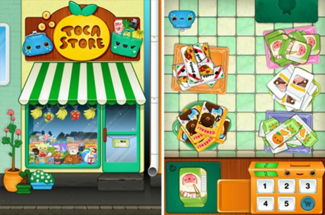 Digital butikklek: Toca Store gjør det morsomt å øve på å telle. Foto: iTunes