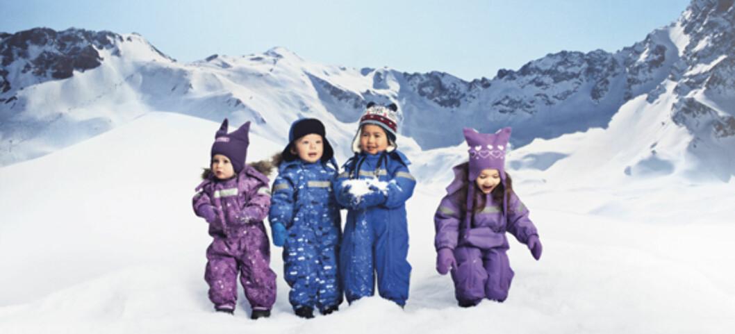 FINN RIKTIG DRESS: Hold barna gode og varme i vinter. Finn parkdressen som passer ditt barn og din lommebok under.  Foto: Nameit