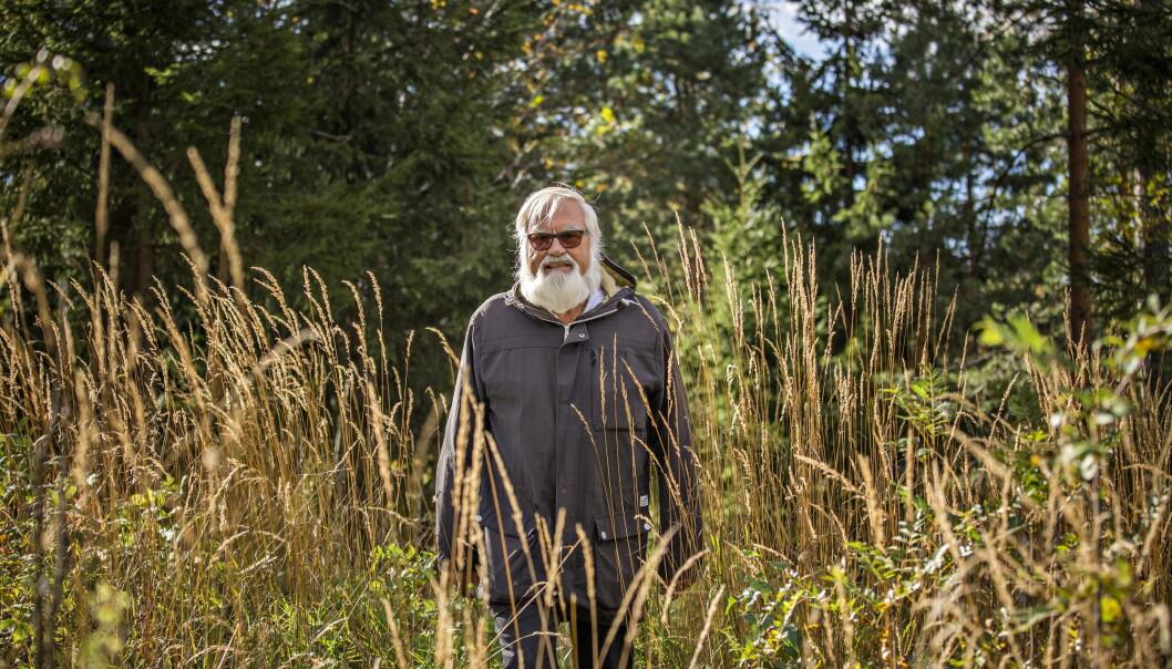 """KJENTE INGENTING: Ole Bele oppdaget at hadde hjerteflimmer først sa hjerneslaget rammet for ett år siden. Etter det har han gått mange turer i ulendt terreng for å trene opp balansen igjen.&nbsp; <span style=""""background-color: initial;"""">&nbsp;Foto: Jørn H Moen / Dagbladet</span>"""