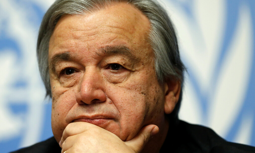 BER OM BEHERSKELSE: FNs generalsekretær, Antonio Guterres. Foto: REUTERS/Denis Balibouse/File photo