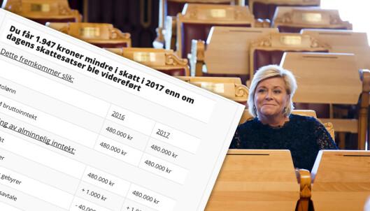 Sjekk hva skatten din blir neste år