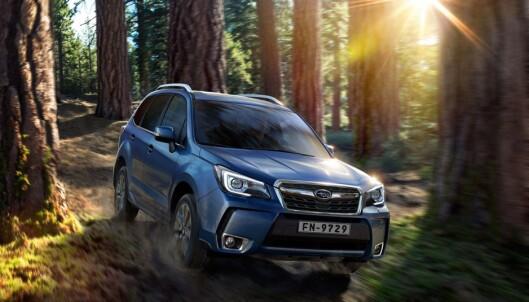 <strong>TAPER:</strong> En folke-SUV som Subaru Forester med dieselmotor blir 27.000 kroner dyrere med det nye forslaget. Foto: SUBARU