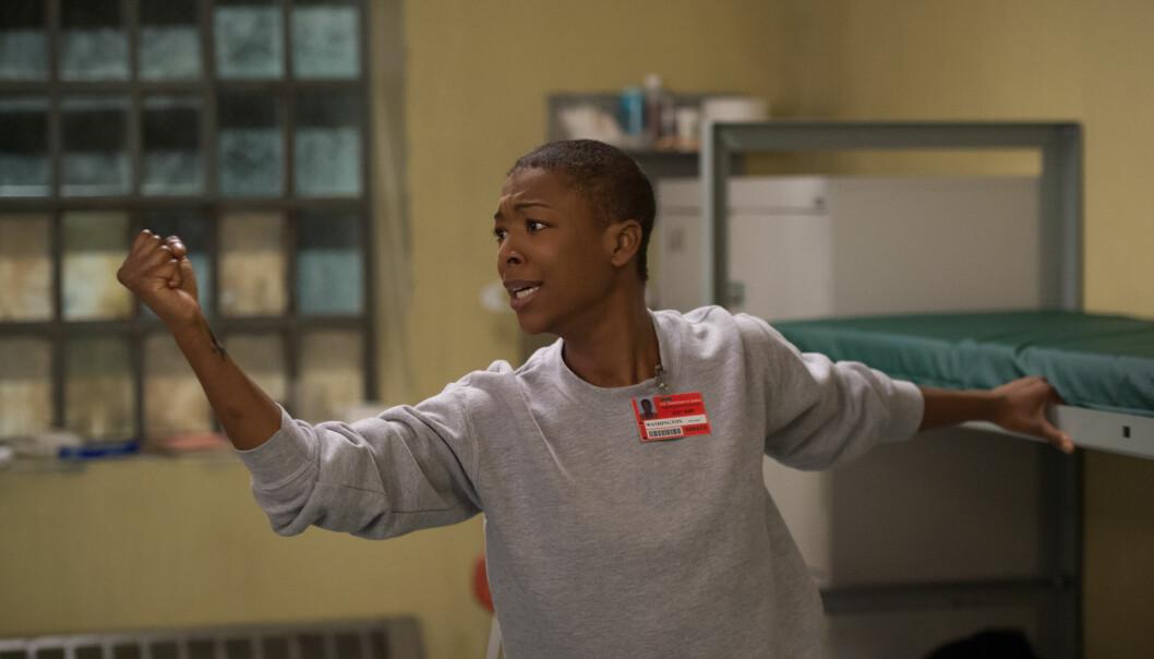<strong>FORLOVET:</strong> I serien spiller Samira Wiley karakteren Poussey Washington. Foto: JoJo Whilden / Netflix