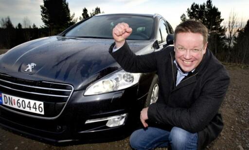 kommunikasjonssjef for Peugeot, Stian Gihle, visste ingenting om den nye modellen før vi kontaktet han. Foto: Dinside.