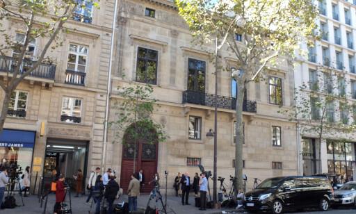 DRAMATISK: Natt til 3. oktober ble svært dramatisk da superstjerna ble ranet på dette hotellet i Paris. Foto: Georgie Gillard/Daily Mail/SOLO Syndication