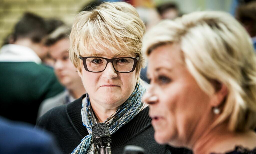 TØFFE TIDER: Det blir harde forhandlinger når Trine Skei Grande (Venstre) og finansminister Siv Jensen (Frp) skal bli enig om statsbudsjett for 2017. Foto: Christian Roth Christensen / Dagbladet