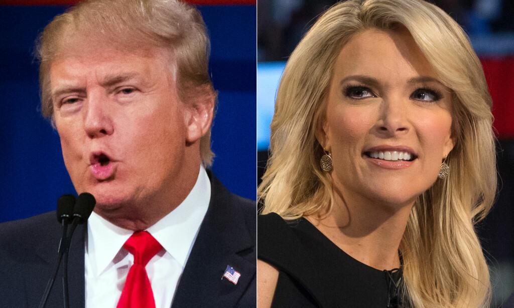 OPPGJØR: NBC-programlederen Megyn Kelly intervjuet i ettermiddag tre kvinner som sa de var blitt sextrakassert av Donald Trump, før en pressekonferanse med flere kvinner som anklaget presidenten for det samme. Foto: AP Photo/John Minchillo