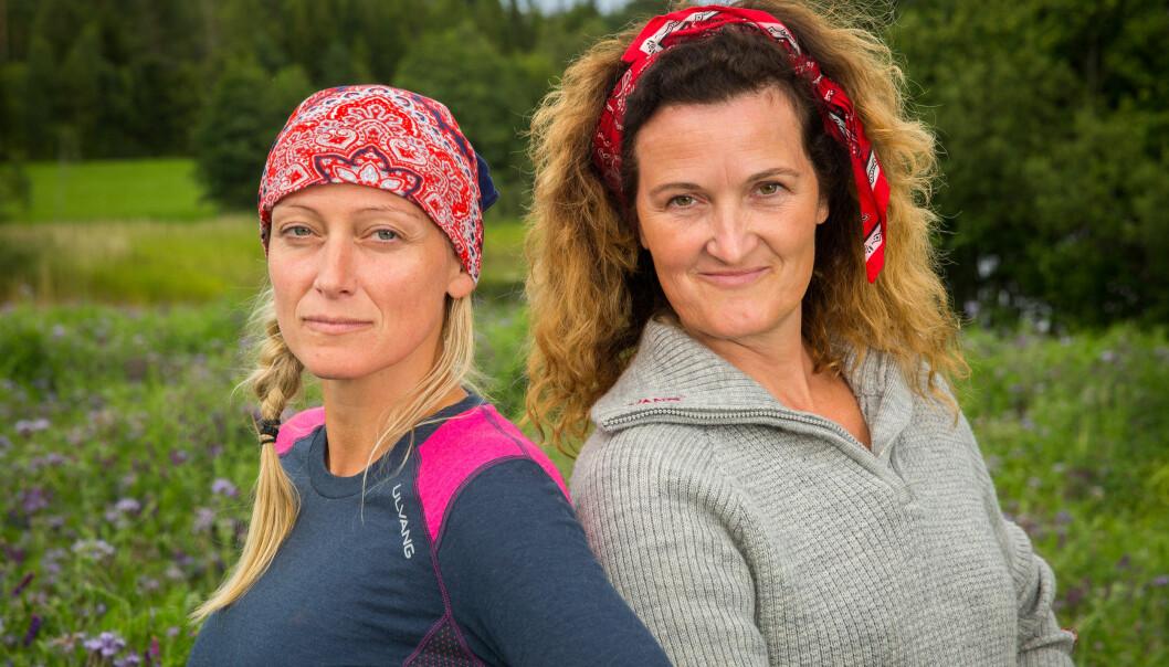 <strong>FØRSTE DELTAKERE UT:</strong> Anita Kallestad (43) og Kari-Lise Vangen (51) møttes til årets første «Farmen»-tvekamp i kveld. Foto: Alex Iversen / TV 2