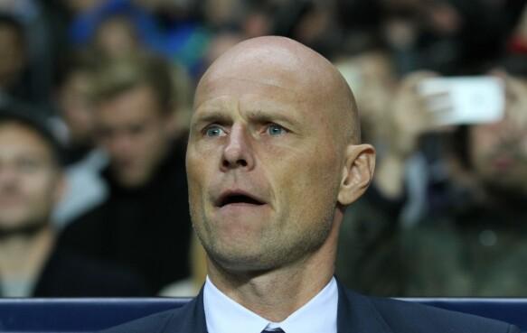 KAN GÅ VIDERE: Ståle Solbakken og FC København går videre til 1/8-finalen hvis de slår Club Brugge borte, samtidig som Porto ienten spiller uavgjort eller taper mot gruppevinner Leicester. Her i hjemmekampen mot Club Brugge 27. september. Foto: NTB Scanpix