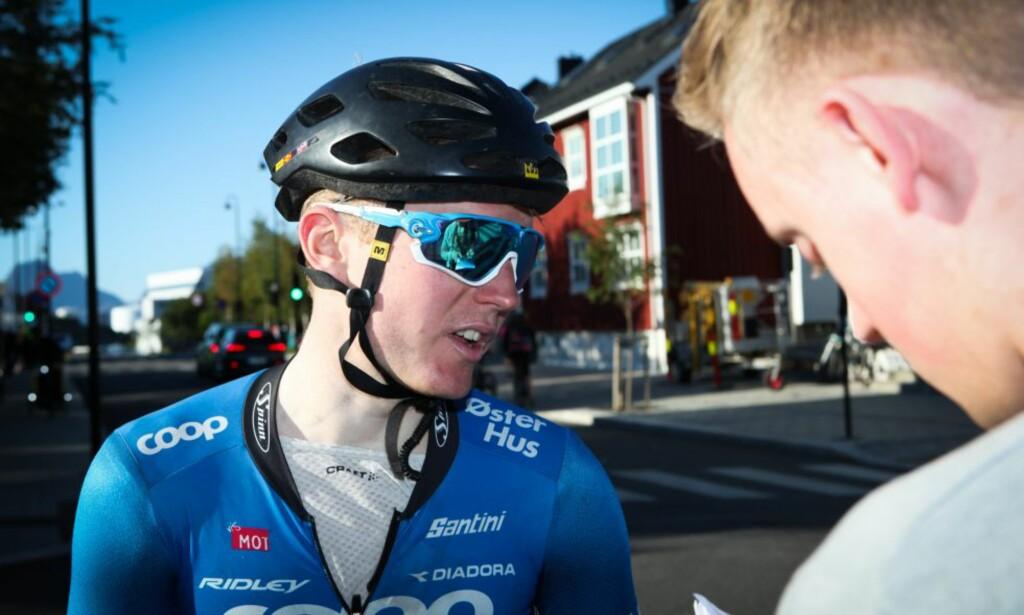 NY PROFF: Coop-ØsterHus-rytter August Jensen er den siste i rekken av norske sykkelproffer. Foto: Kjetil R. Anda / procycling.no