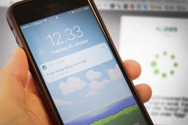 6c9b479e TO STEG: Betaler du med Vipps i en nettbutikk må du fullføre handelen på  mobilen