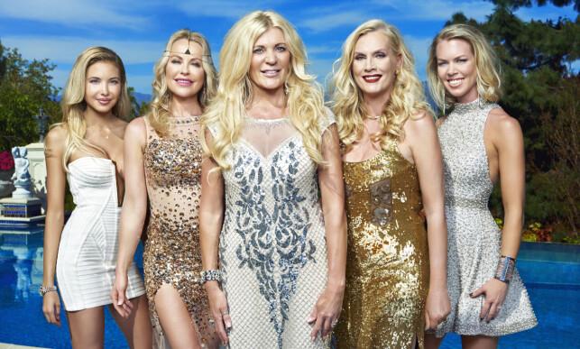 BERØMTE FRUER: Elena Belle, Åsa Vesterlund, Maria Montazami, Gunilla Persson og Sofie Prydz er alle kjent fra TV3-suksessen «Svenske Hollywoodfruer».