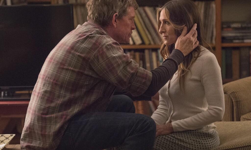 SNART SLUTT: Robert (Thomas Haden Church) og Frances (Sarah Jessica Parker) forsøker å skille lag i HBO-serien «Divorce».  Foto: HBO