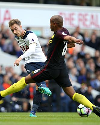 <strong>NYKONTRAKT:</strong> Eriksen har signert en ny fireårskontrakt med Tottenham. Foto: David Klein/Sportimage via PA Images