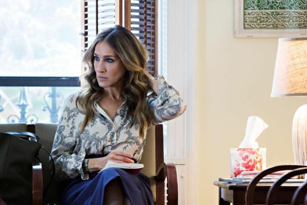 KOMPLISERT: Sarah Jessica Parker («Sex and the City») spiller igjen hovedrollen i en større serie i  HBOs Divorce, som skildrer en skilsmisses kompliserte anatomi. Foto: HBO Nordic