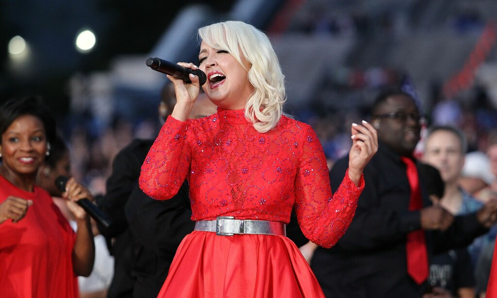 BEDT OM Å HOLDE KJEFT: Meghan Linsey hevder at hun fikk beskjed om å ikke fortelle noen om overgrepet hun ble utsatt for i 2010. Her er hun avbilda under prøvene til en 4. juli-konsert i Washington D.C. i 2015. Foto: Paul Morigi/Getty Images for Capitol Concerts/AFP/ NTB Scanpix