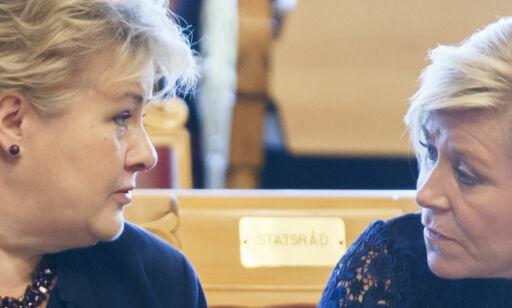 image: Torsdag var det for «krevende» for Siv å regne ut. Nå har Høyre laget sitt eget klimaregnestykke