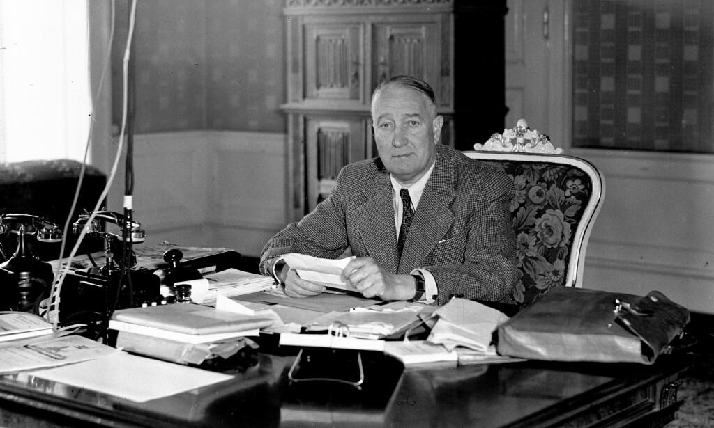 Innenriksminister: Albert Viljam Hagelin (1881-1946) var innenriksminister i Quislings andre regjering. Foto: Aage Kihle / NTB scanpix