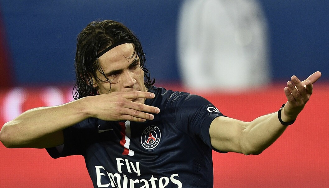 <strong>RØD KORT:</strong> Edinson Cavani. Foto: AFP PHOTO / FRANCK FIFE