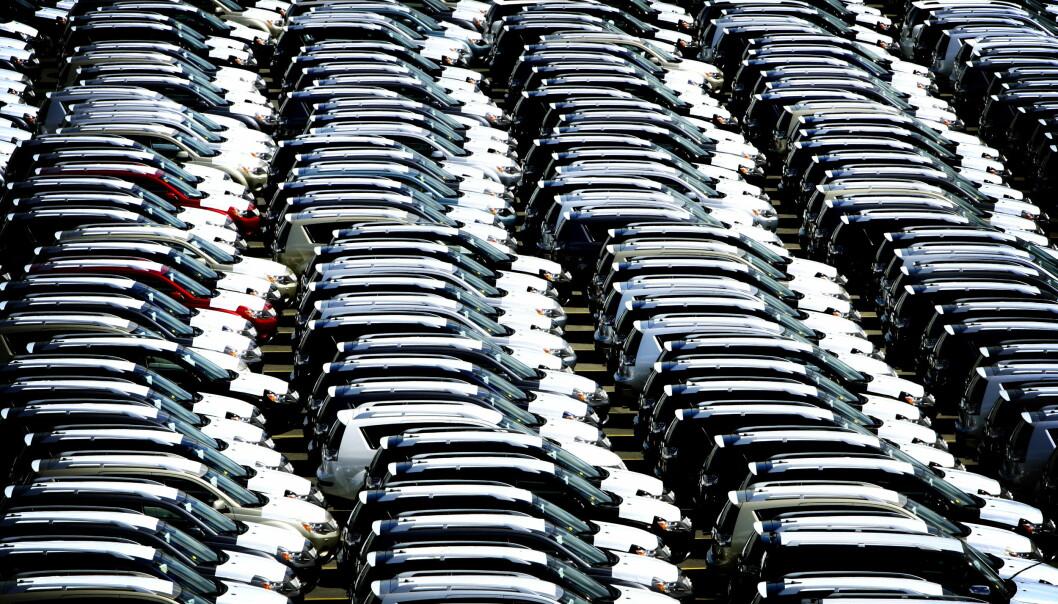 <strong>STUPER:</strong> Salget av personbiler på det europeiske markedet gikk ned hele 52,7 prosent i mars, sammenlignet med samme måned 2019. Foto: Bjørn Langsem