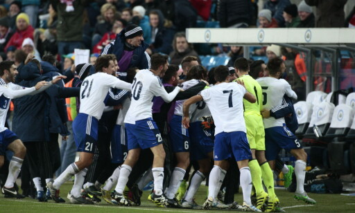 SJOKKET: San Marino scoret på Ullevaal - for første gang på bortebane i en VM-kvalifiseringskamp siden 2001. Foto: Bjørn Langsem / Dagbladet