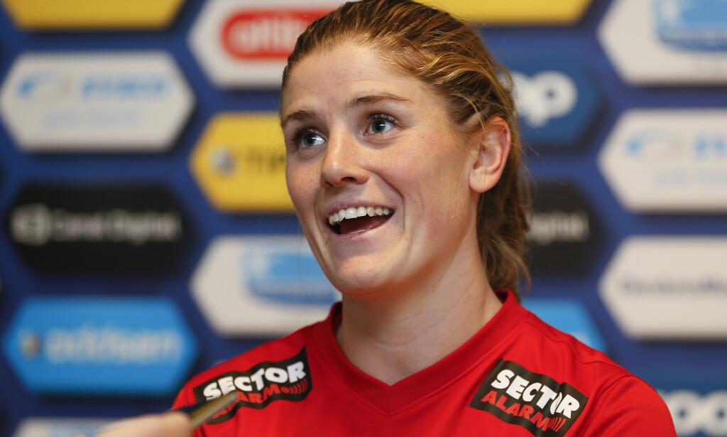 TUNG DAG: For Maren Mjelde og Avaldsnes borte mot Lyon i Champions League. Foto: NTB Scanix