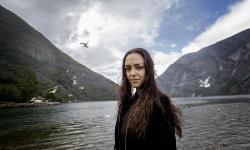 Andrea Voll Voldum sto fram etter dommen som frikjente 3 menn for voldtekt av henne i Hemsedal i 2014. Saken har engasjert og satt sinnene i kok i hele Norge. Foto: Anita Arntzen