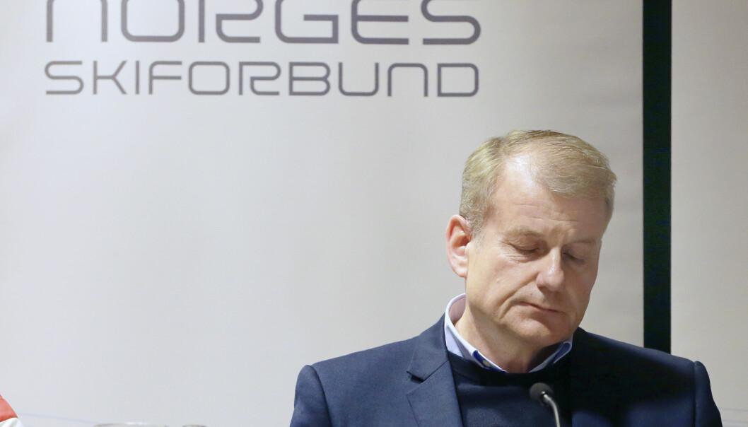 <strong>VIL IKKE TREKKE SEG:</strong> Erik Røste sier det ikke er aktuelt å trekke seg som skipresident. Foto: NTB Scanpix &nbsp; &nbsp; &nbsp;