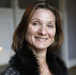 AVVISER SAMRØRE OG ROLLEBLANDING: Kommunikasjonssjef Marianne Hagen ved Slottet. Foto: Cornelius Poppe / NTB scanpix