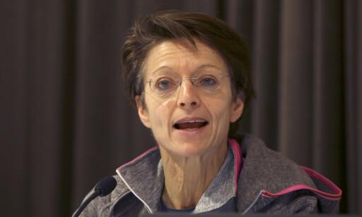 REAGERER: FIS-generalsekretær Sarah Lewis reagerer på at forbundet ikke er blitt informert om Therese Johaugs dopingsak og reagerer på at den norske løperen ikke er blitt suspendert. Foto: Terje Pedersen / NTB scanpix
